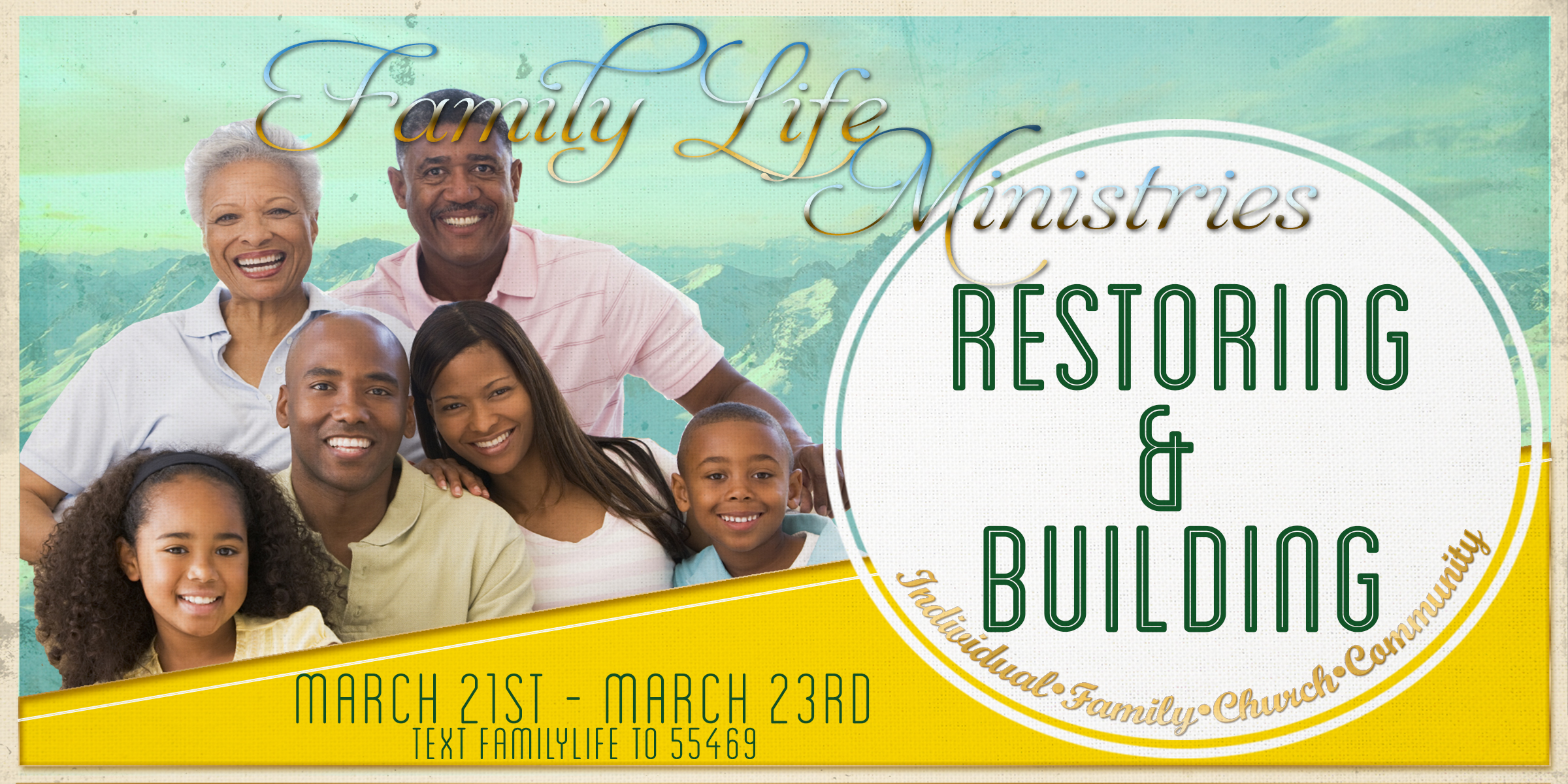 Family Life Weekend - Text Flyer Front